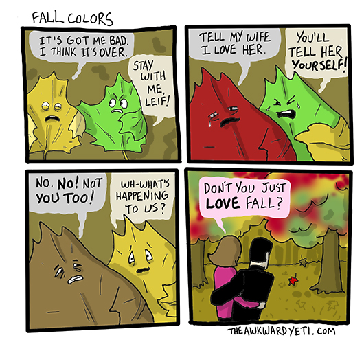 Fall Colors Comic by Awkward Yeti