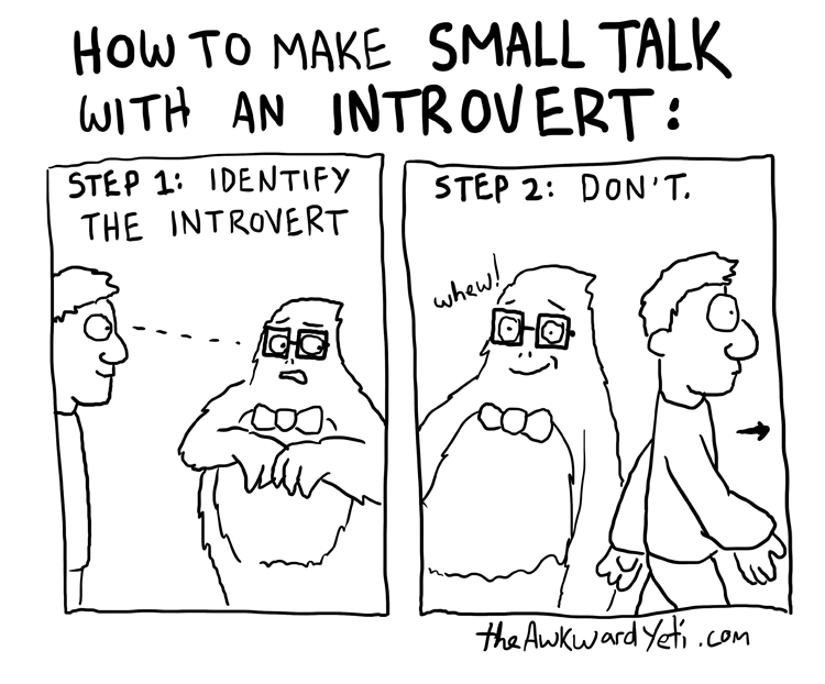 making small talk with introverts