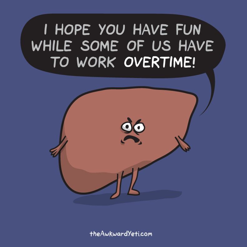 Happy New Year's Eve, from Liver!