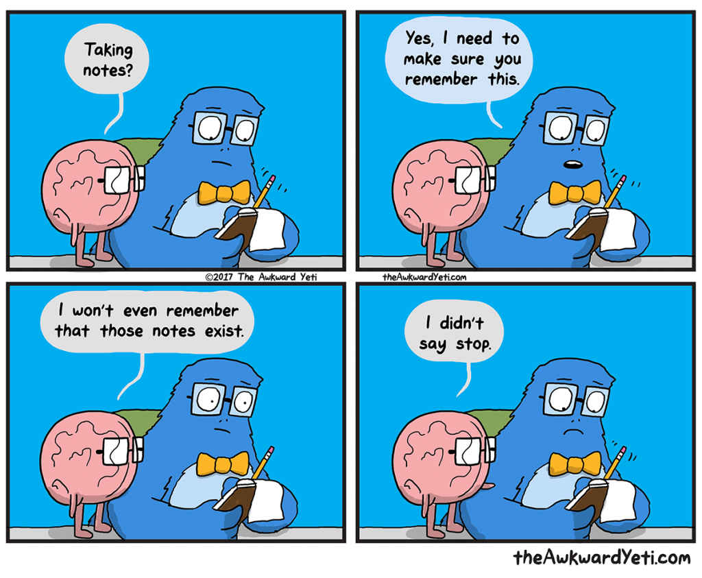 The Awkward Yeti | Take A Note