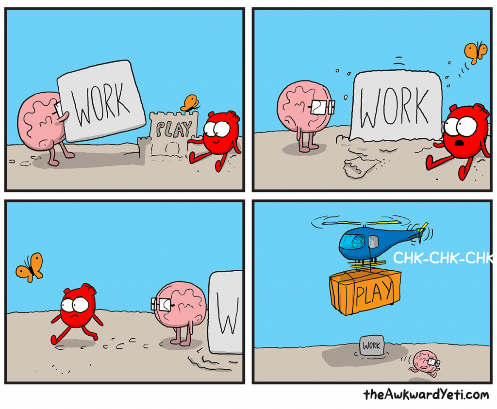 The Awkward Yeti | Work/Play Balance