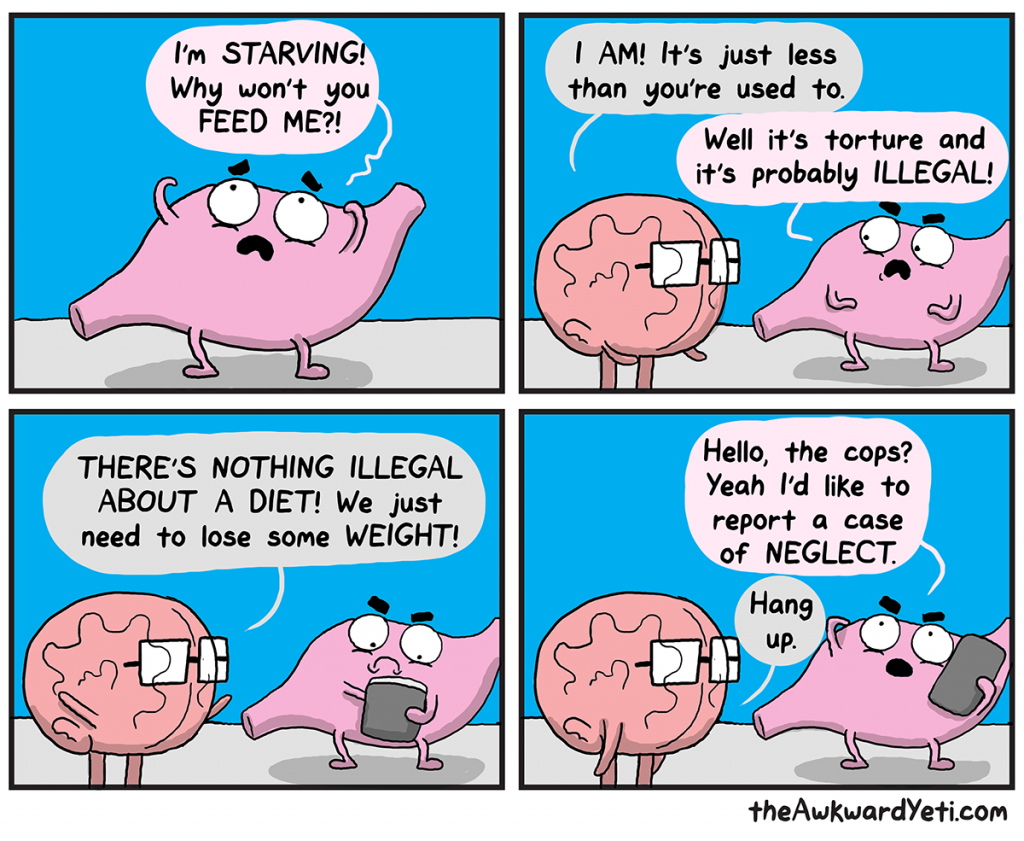 The Awkward Yeti | Stomach Gets Tortured