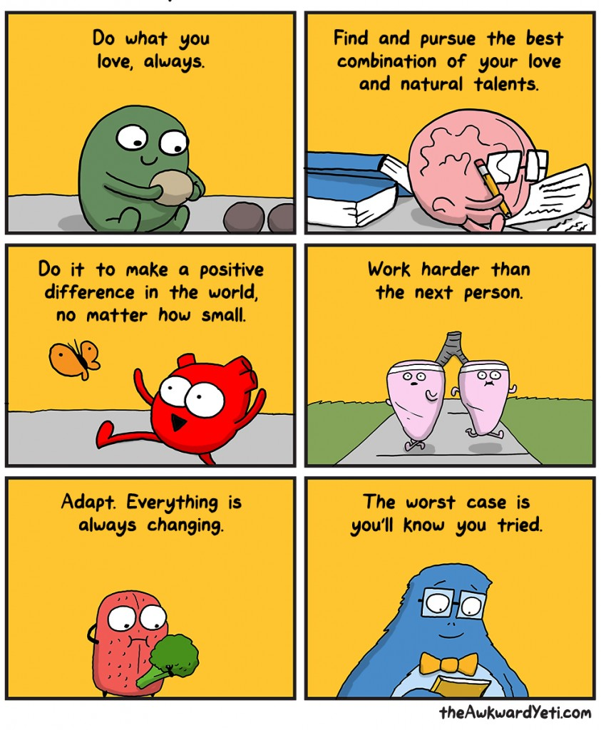 The Awkward Yeti Characters Gallbladder