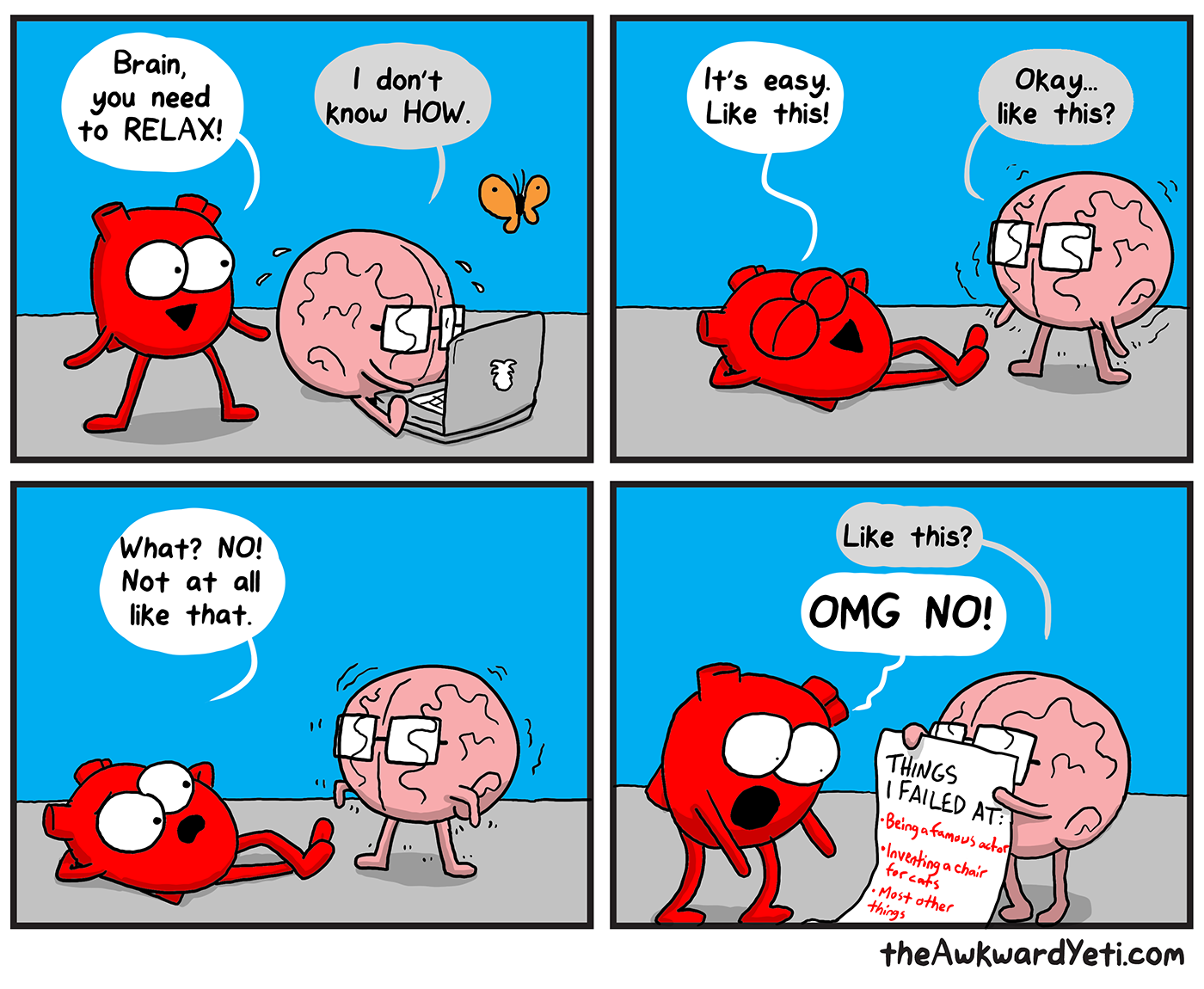 Brain tries to relax